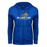ENZA Ladies Royal Fleece Full Zip Hoodie-Rollins Tars Lacrosse Stacked