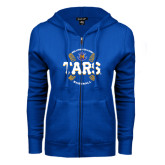ENZA Ladies Royal Fleece Full Zip Hoodie-Tars Baseball w/ Seams