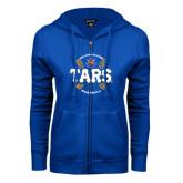 ENZA Ladies Royal Fleece Full Zip Hoodie-Tars Baseball w/ Seams