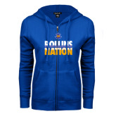 ENZA Ladies Royal Fleece Full Zip Hoodie-Rollins Nation Stacked