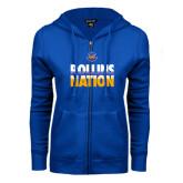 ENZA Ladies Royal Fleece Full Zip Hoodie-Rollins Nation Stacked