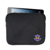 Neoprene Black Zippered Tablet Sleeve-Official Logo