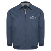 Navy Players Jacket-Rollins Institutional Mark Stacked