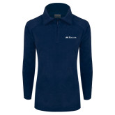 Columbia Ladies Half Zip Navy Fleece Jacket-Rollins Institutional Mark Flat