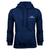 Navy Fleece Hood-Rollins Institutional Mark Stacked