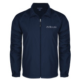 Full Zip Navy Wind Jacket-Rollins Institutional Mark Flat