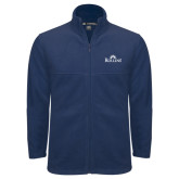 Fleece Full Zip Navy Jacket-Rollins Institutional Mark Stacked
