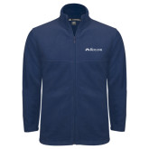 Fleece Full Zip Navy Jacket-Rollins Institutional Mark Flat