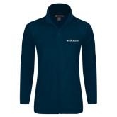 Ladies Fleece Full Zip Navy Jacket-Rollins Institutional Mark Flat