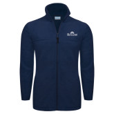 Columbia Full Zip Navy Fleece Jacket-Rollins Institutional Mark Stacked