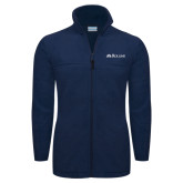Columbia Full Zip Navy Fleece Jacket-Rollins Institutional Mark Flat