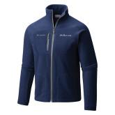 Columbia Full Zip Navy Fleece Jacket-Rollins Institutional Mark Flat