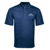 Navy Mini Stripe Polo-Rollins Institutional Mark Stacked