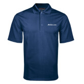 Navy Mini Stripe Polo-Rollins Institutional Mark Flat