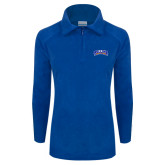 Columbia Ladies Half Zip Royal Fleece Jacket-Arched Rollins Tars