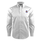 Red House White Dobby Non Iron Long Sleeve Shirt-Official Logo