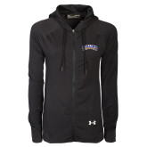 Ladies Under Armour Black Varsity Full Zip Hoodie-Arched Rollins Tars