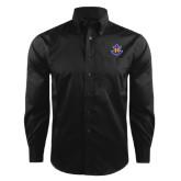 Red House Black Herringbone Non Iron Long Sleeve Shirt-Official Logo