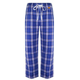 Royal/Black Flannel Pajama Pant-Official Logo