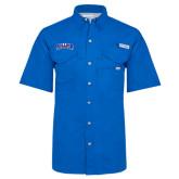 Columbia Bonehead Royal Short Sleeve Shirt-Arched Rollins Tars