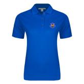 Ladies Easycare Royal Pique Polo-Official Logo