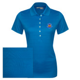 Ladies Callaway Opti Vent Sapphire Blue Polo-Official Logo