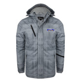Grey Brushstroke Print Insulated Jacket-Arched Rollins Tars