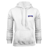 White Fleece Hoodie-Arched Rollins Tars
