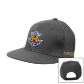 Steel Grey Flat Bill Snapback Hat-Official Logo