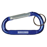 Blue Carabiner with Split Ring-Rollins Engraved