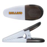 White Crocodile Clip/Magnet-Rollins