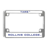 Metal Motorcycle License Plate Frame in Chrome-Tars