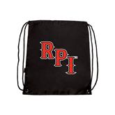 Black Drawstring Backpack-RPI