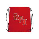 Red Drawstring Backpack-RPI