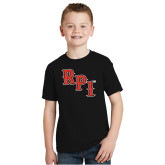 Youth Black T Shirt-RPI