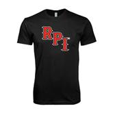Next Level SoftStyle Black T Shirt-RPI