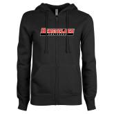 ENZA Ladies Black Fleece Full Zip Hoodie-Rensselaer Engineers