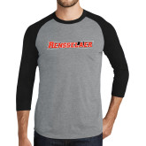 Grey/Black Tri Blend Baseball Raglan-Rensselaer