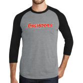 Grey/Black Tri Blend Baseball Raglan-Engineers