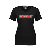 Ladies Black Stretch Scoop Neck-Rensselaer