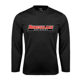 Performance Black Longsleeve Shirt-Rensselaer Engineers