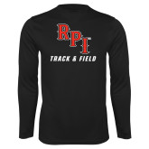 Performance Black Longsleeve Shirt-Track & Field