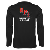 Performance Black Longsleeve Shirt-Swimming & Diving