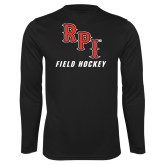 Performance Black Longsleeve Shirt-Field Hockey