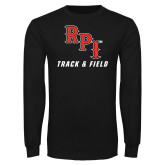 Black Long Sleeve TShirt-Track & Field