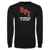 Black Long Sleeve TShirt-Swimming & Diving