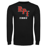 Black Long Sleeve TShirt-Tennis