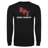 Black Long Sleeve TShirt-Cross Country