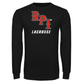 Black Long Sleeve TShirt-Lacrosse