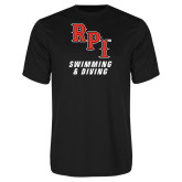 Performance Black Tee-Swimming & Diving